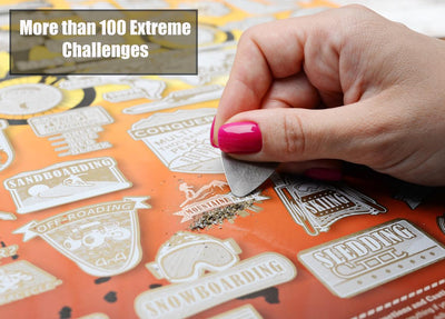 Extreme Things To Do Scratch Off Poster