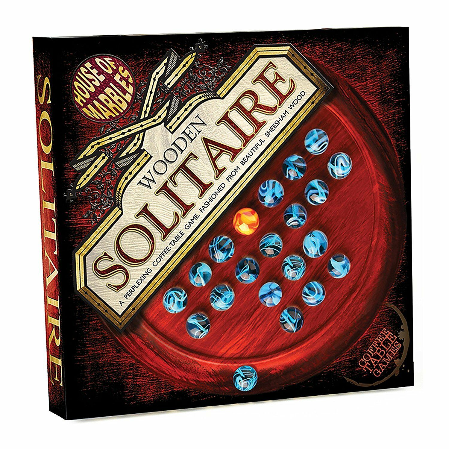 Vintage Wooden Solitaire Game