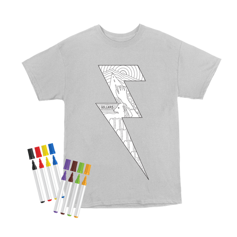 5cbd3795 The Killers Lightning Bolt T-shirt