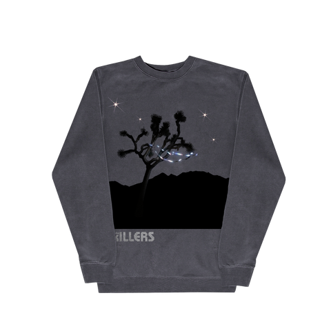 Don't Waste Your Wishes Pigment Dye Crewneck (Black)