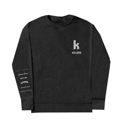 Album List Crewneck (Black)