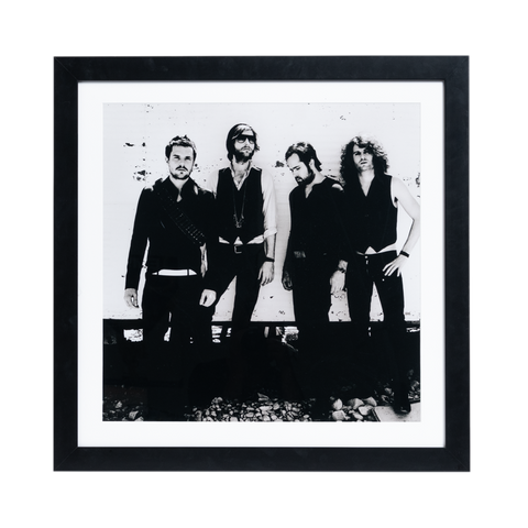 Black and White Band Photo Framed Lithograph
