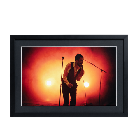 Brandon Flowers Stage Photo Framed Lithograph