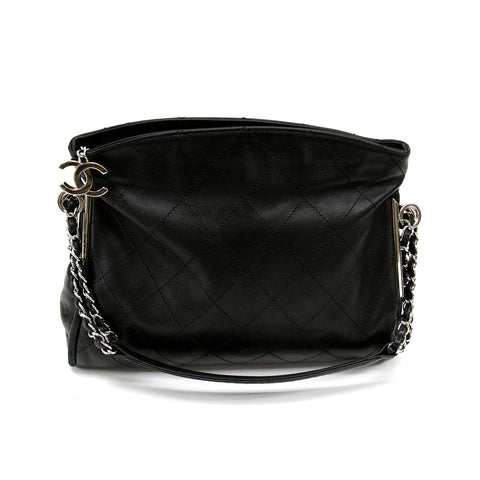 Chanel Black Noir Medium Ultimate Soft Quilted Leather Hobo