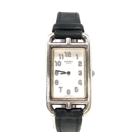 HERMES Watch Cape Cod Nantucket PM NA1.250 Ladies Silver 925