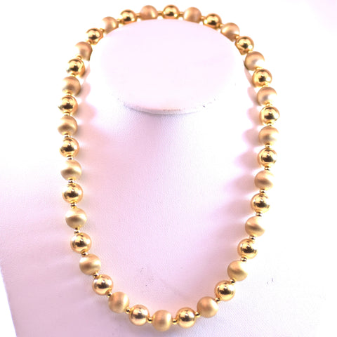 Sterling Silver Gold-Plated Beaded Necklace