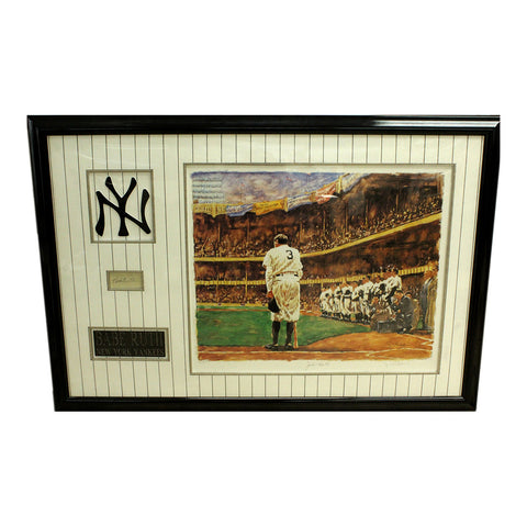 "Serigraph of ""Babe Ruth Bows Out"" picture with Autograph"