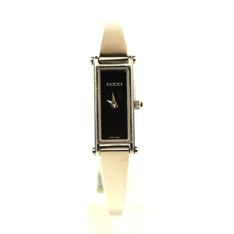 GUCCI 1500L Square Stainless Steel Ladies Bangle Bracelet Watch