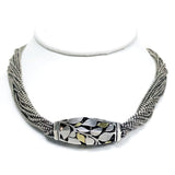 Cartier 18K Gold & Sterling Silver Leafy Barrel With Multi Strand Necklace