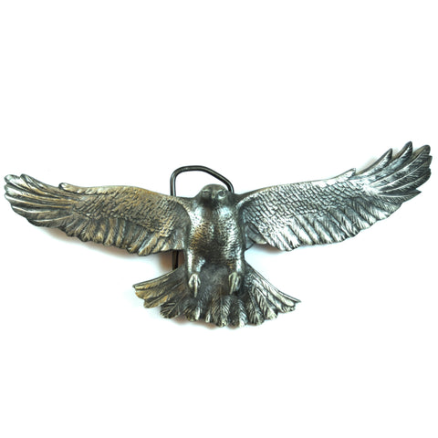 Vinegarroon Foundries 1978 Pewter Flying Owl Belt Buckle