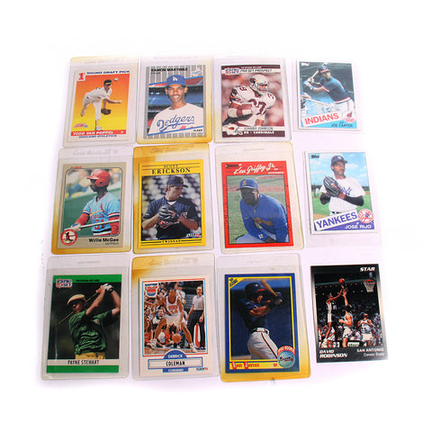 12 Varies NBA, NFL, MLB Collector Cards
