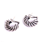 Sterling Silver Half Hoop Curled Earrings