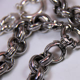 Italy Milor Sterling Silver Chunky Curb Link Bracelet and Necklace Set