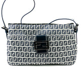 Fendi Zuccino FF Logo Monogram Navy Handbag Purse