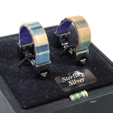 Paul Smith Sterling Silver, Multi-color Cuff-Links