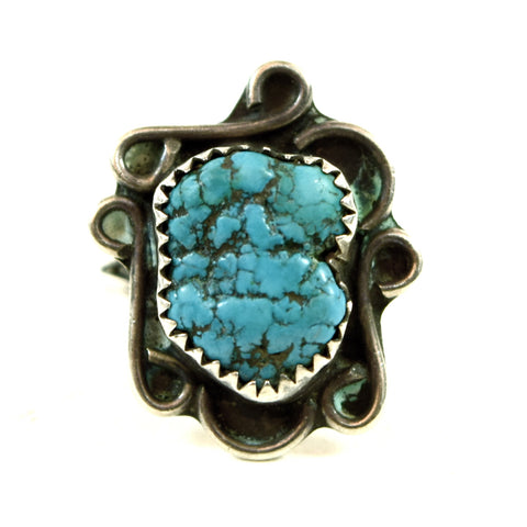 Native American/ Southwest Women's Turquoise and Silver Ring