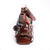 Burberry Brown Bridle House Check Gosford Hobo