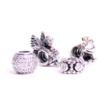Sterling Silver Pandora Charm of a fairy, a frog, a crown, and a lovely smile