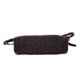 FENDI Zucchino Signature FF Jacquard Canvas Shoulder Bag