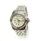 Ladies Stainless Steel Breitling Galactic 32 with diamond bezel A71356