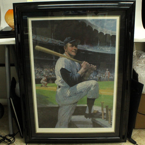 Mickey Mantle signed Burton Silverman Lithograph