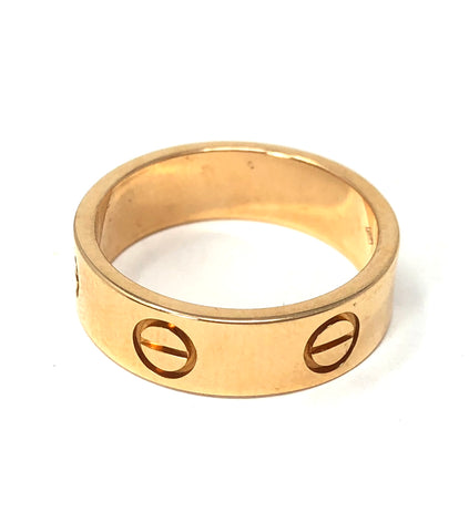 Cartier 18k Rose Gold Love Ring Band 5.7gr Size 6