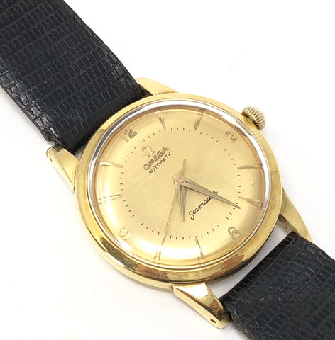 Vintage Omega Seamaster Automatic 18kt Yellow Gold Watch