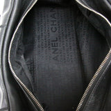 Chanel Black Square Stitch Caviar Bowling Bag
