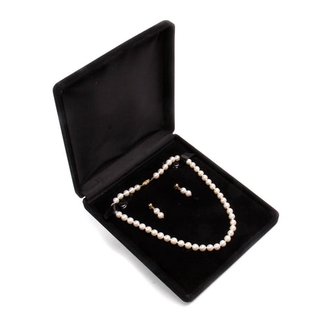 14kt Cultured Akoya Pearl Strand Necklace and Earrings