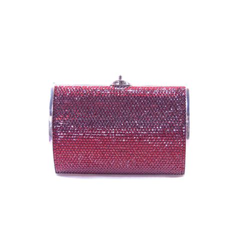 Judith Leiber Tiny Ruby Red Crystal Clutch Bag Purse