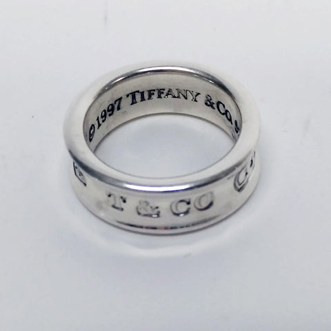Tiffany & Co Sterling Silver Band Ladies Ring, Size 5.5