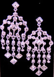 3 Pairs of Silver tone and Crystal Rhinestone Fashion Jewelry Earrings