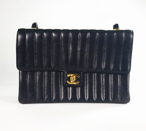 Chanel Vintage Vertical Quilted Timeless Crossbody