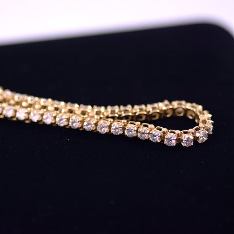 14 Karat Gold and Moissanite S Link Tennis Bracelet