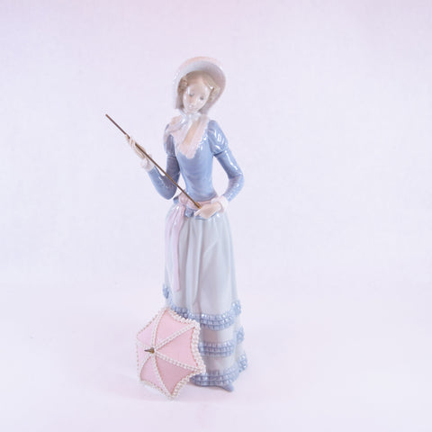 Collectible Lady with Umbrella Figurine