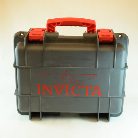 Invicta 8 Slot IMPACT Gray Dive Storage Collector Waterproof Watch Case