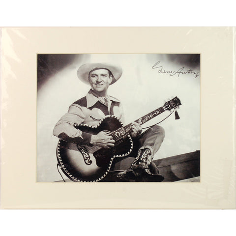 Gene Autry Signed Autograph Black & White Matted Photo