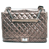 Chanel Sac Class Rabat Quilted Leather Bronze Tote Bag Purse
