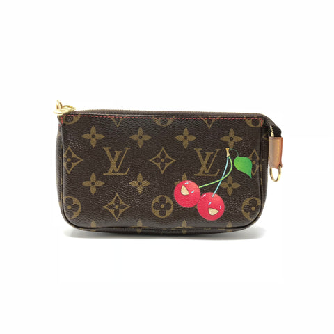 LOUIS VUITTON Monogram Cerises Cherry Pochette Bag