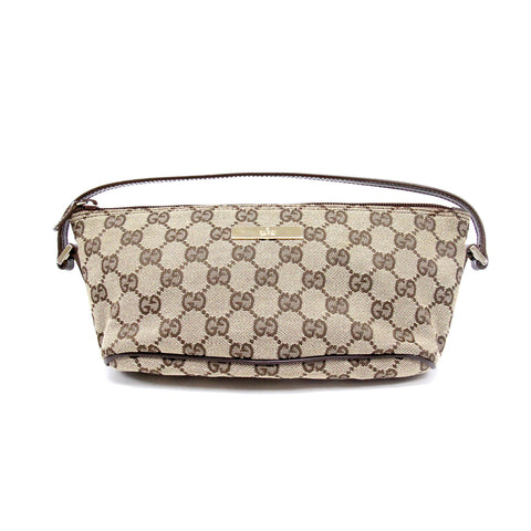Gucci GG Supreme Canvas Pochette Bag with gold-tone hardware