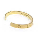 Cartier 18k Yellow Gold Love Bracelet Bangle Cuff Size 16