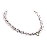 Tiffany & Co. Sterling 18k Heart Necklace Choker