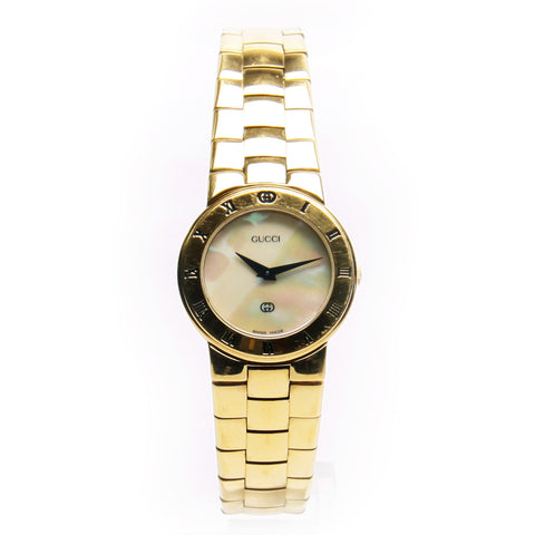 Authentic Gucci Gold-Tone Quartz 3300L Women's Watch