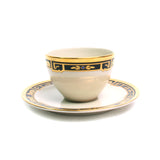Flat Cup & Saucer Set in La Maison De L'Art Deco by Cartier