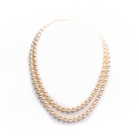 Mikimoto Akoya 18kt Gold Strand Pearl Necklace