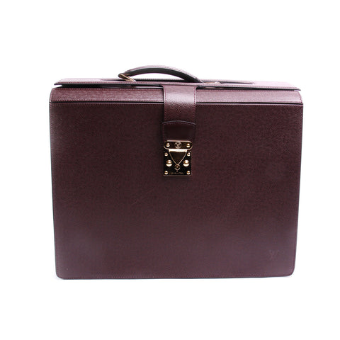 Louis Vuitton Taiga Pilot Case Oural Briefcase 2001