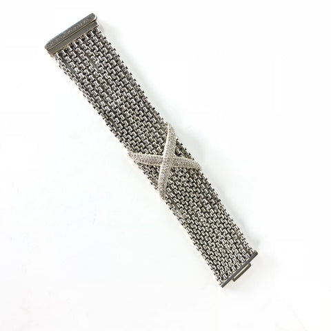 "David Yurman 8-Row ""X"" Bracelet 2.6 Carats Diamonds"