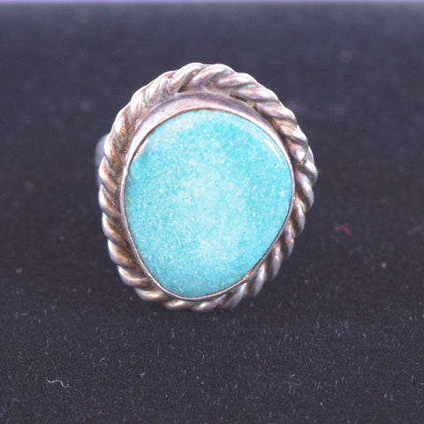Sterling Silver and Turquoise Southwest BC Ring