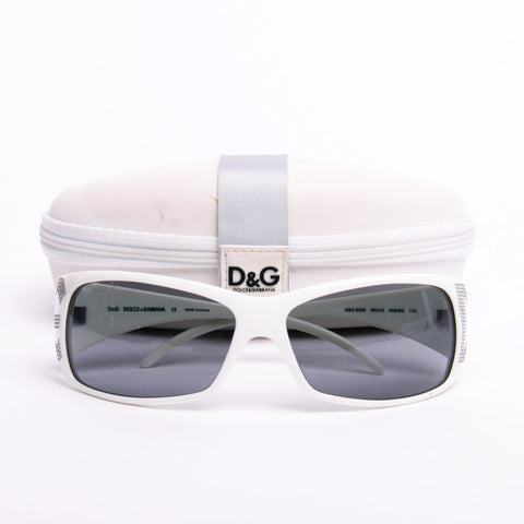 Dolce and Gabbana D&G White Studded Sunglasses