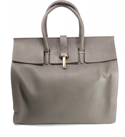 Balenciaga Pebbled Leather 'Tube Round' M Tote Bag